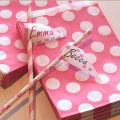Polka dots and decorative Straws