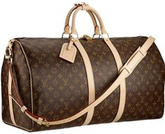 Louis Vuitton Monogram Canvas Keepall with Shoulder Strap