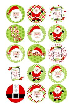 Risultati immagini per free christmas bottle cap images to print Christmas Images, All Things Christmas, Christmas Fun, Christmas Decorations, Christmas Ornaments, Xmas, Bottle Cap Projects, Bottle Cap Crafts, Bottle Cap Art