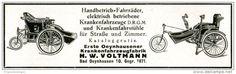 Original-Werbung/ Anzeige 1929 - HANDBETRIEB- FAHRRÄDER/ KRANKENFAHRSTÜHLE/ VOLTMANN BAD OEYNHAUSEN-ca.110 x 30 mm