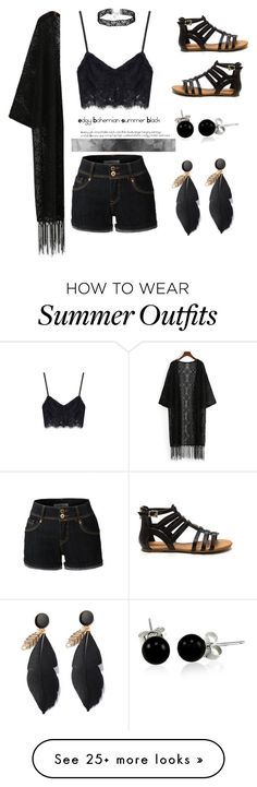"""Edgy Boho Summer Outfit"" by amber1193h on Polyvore featuring LE3NO and Bling Jewelry"