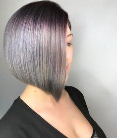 Asymmetrischer Bob Haarschnitt