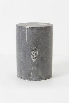 Fallen Leaves Cement Stool #anthropologie
