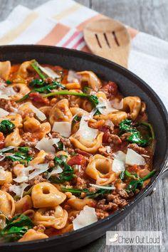 20-Minute Skillet Tuscan Tortellini Recipe on Yummly