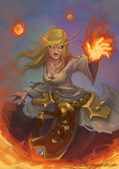 Fire Mage by Daniel Oliveira