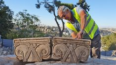 Mysterious remains of 'magnificent' Biblical-era palace discovered in Israel   Fox News Archaeological Discoveries, Archaeological Finds, King Hezekiah, House Of David, Column Capital, Ancient Near East, Iron Age, Once In A Lifetime, Jerusalem