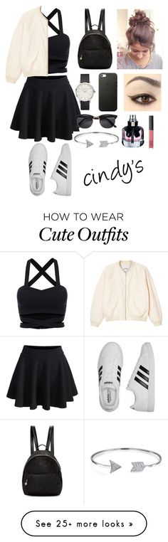 """""""outfit of the day1"""" by cindyvirgantari on Polyvore featuring Monki, STELLA McCARTNEY, adidas, Bling Jewelry, Yves Saint Laurent and NARS Cosmetics"""