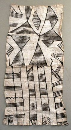 Africa | Barkcloth (lioncloth) ~ 'Pongo' ~ from the Mbuti people of the Iturri Forest, DR Congo | Pouned bark, and natural plant dye | 20th century: