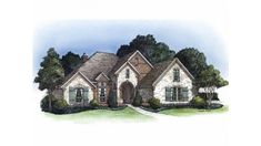 this french country house plan with 4 bedroomss 3 bathrooms 1 story and 2366 total square feet from eplans exclusive assortment of house plans - 1 Story French Country House Plans