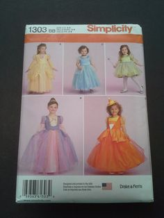 Simplicity 1303 BB girls size 3-6 costume by BloomingRoseCrochet
