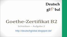 Goethe Zertifikat B2 - Schreiben - Aufgabe 2