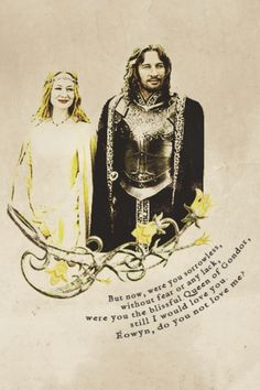 Faramir and Eowyn's romance is short in the books. And even more so than the movies. But it is so profound.