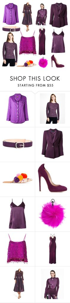 """""""Happy Hours"""" by donna-wang1 ❤ liked on Polyvore featuring OTIS BATTERBEE, Brooks Brothers, Nina Ricci, Claude Montana, Figue, Chloe Gosselin, H Beauty&Youth, N.Peal, Ashish and Gilda & Pearl"""