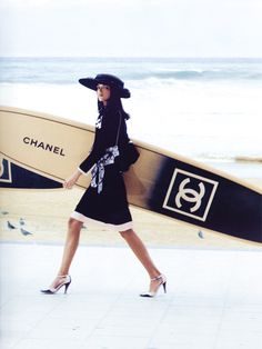 Mariacarla Boscono and Frankie Rayder by Karl Lagerfeld for Chanel Spring/Summer 2003