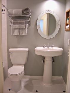 toiley sink mirror painting linoleum floors were
