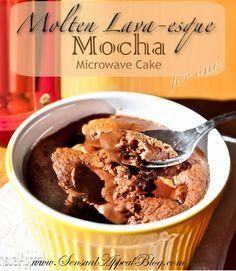Molten Lava-esque Mocha Microwave Mug Cake for One