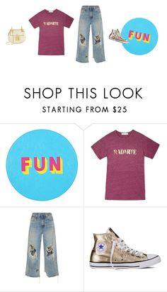 """fun items make a fun look"" by freddarling ❤ liked on Polyvore featuring Lisa Perry, Rodarte, R13, Converse and Chloé"
