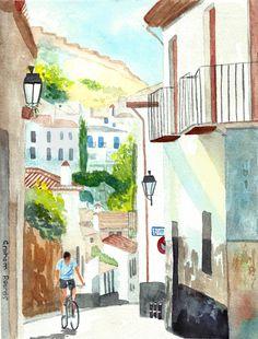 https://flic.kr/p/FeovJ8 | Granada | Granada, Spain, watercolour