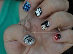 I love Disney and Nails, and when you put them together!!!!!!!!!! YAY!!!!!!!!! =] I'm excited to try this design!