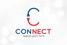 Connect Letter C Logo Template by @Graphicsauthor
