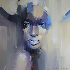 SOLD BY ECLECTICA MODERN - Lerato by Peter Pharoah -  original oil on canvas - Claremont, Cape Town.