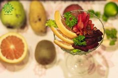 Purrple potato salad with orange cocktail australia