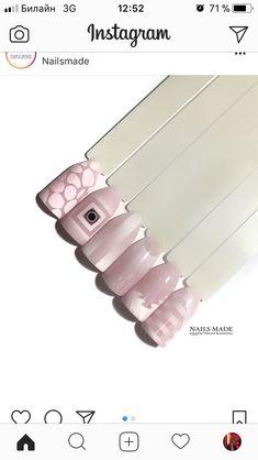 Nails & Co, Love Nails, Pink Nails, Manicure At Home, Nail Manicure, Nailart, Geometric Nail, Fabulous Nails, Nail Art Galleries