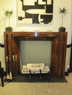 simple way to add style to a non-working fireplace!