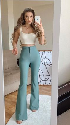 Trendy Summer Outfits, Cute Casual Outfits, Pretty Outfits, Stylish Outfits, Girl Outfits, Fashion Outfits, Stylish Clothes, Casual Wear, Look Formal