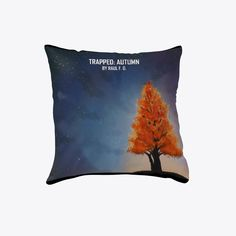 The iconic tree from the cover of Trapped: Autumn now available. Get your Trapped: Autumn pillow now, available for everyone. Fall Pillows, Throw Pillows, The Row, Just For You, Autumn, Cover, Books, Toss Pillows, Libros