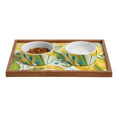 Cori Dantini Sun Burst Flowers Pet Bowl and Tray –  #dog #cat #pet #unique #accesories