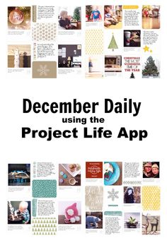 2 December Daily 2014 using the Project Life App   by Julie Gagen Project Life CT