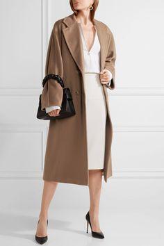 Max Mara - Madame Oversized Wool And Cashmere-blend Coat - Camel - UK14