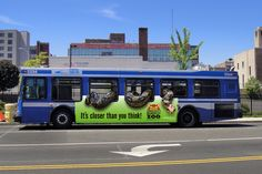 Less ambitious, but still awesome. Bridgeport bus wrap for Beardsley Zoo