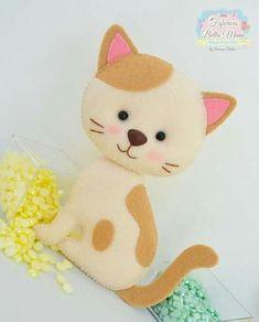 Ideas para hacer gatos de fieltro - Ideas de Manualidades