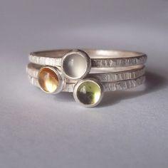 Tiny Stacking Ring Trio set