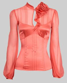 Karen Millen Beautiful, coral blouse...love!