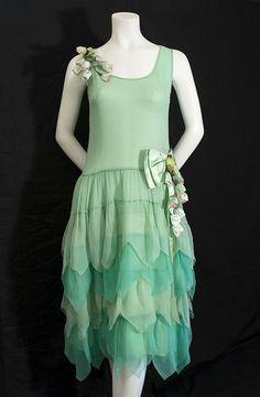 Flapper chiffon party dress, c.1924.