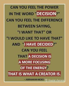 Power in decision