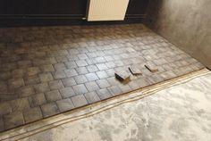 Finition grisée avec une protection naturelle wood tiles