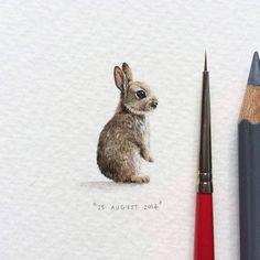 """Le projet """"365 Postcards for Ants"""" de l'artiste sud-africaineLorraine Loots, qui a décidé de réaliser une peinture miniature par jour pendant un an. Des cr"""