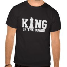 King of the hill T-shirt for chess players