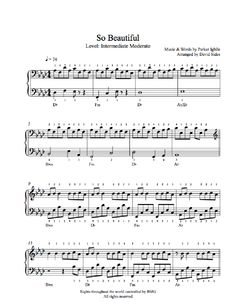 So Beautiful by Parker Ighile Piano Sheet Music | Intermediate Level