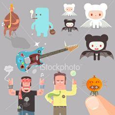 Character Fiestagansa variety | Stock Illustration | iStock