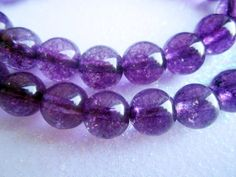 "15"" Strand of 8mm Purple Tourmaline by ShipshapeSupply on Etsy, $12.00"