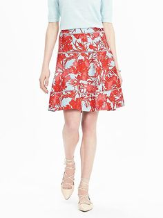 Flare Pint Skirt in Candy Teal by Banana Republic