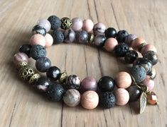 A personal favorite from my Etsy shop https://www.etsy.com/ca/listing/555607948/harmony-bracelet-set-aromatherapy