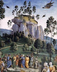 IL PERUGINO - Viaggio di Mosè e circoncisione del Suo Secondo figlio, dettaglio - circa 1481-1483 - affresco - Cappella Sistina, Città del Vaticano