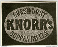 Original-Werbung/Inserat/ Anzeige 1902 : KNORR'S ERBSTWURST SUPPENTAFELN ca. 135 x 90 mm