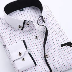 2017 Men Fashion Casual Long Sleeved Printed shirt Slim Fit Male Social Business Dress Shirt Brand Men Clothing Soft Comfortable - Designer Accessories Online - largest collection of fashionable designer clothing and accessories Business Shirts, Business Casual, Social Business, Business Men, Style Casual, Men Casual, Smart Casual, Style Men, Mens Wedding Shirts